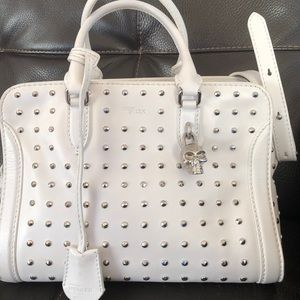 Vintage Alexander MCQueen  white leather crossbody